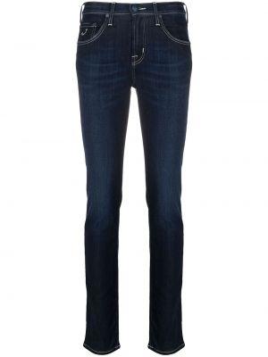 Хлопковые синие джинсы с вышивкой Jacob Cohen