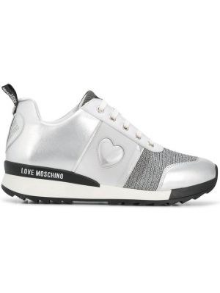 Skórzane sneakersy Love Moschino