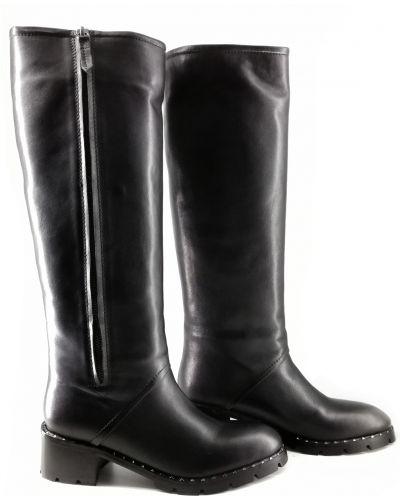 Кожаные сапоги - черные Ilvi