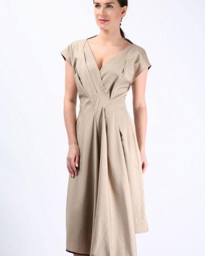Платье весеннее бежевое Golda