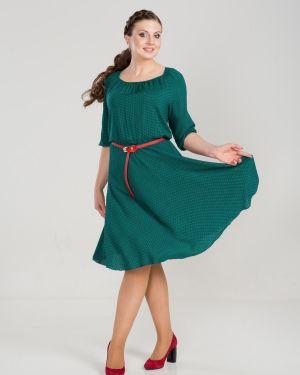 Платье из штапеля - зеленое прима линия