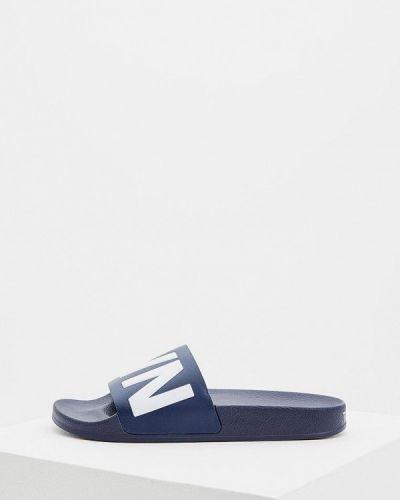 Синие сандалии кожаные Town