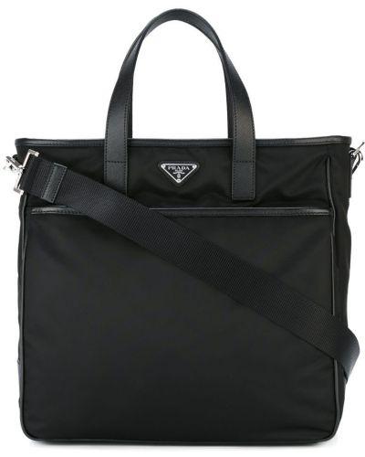 Кожаная сумка сумка-тоут нейлоновая Prada