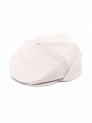Beżowa czapka sztruksowa Colorichiari