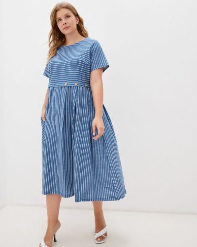 Синее зимнее платье Winzor