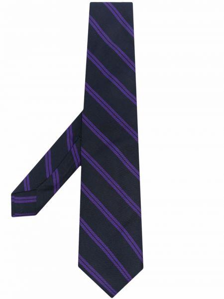 Krawat w paski - niebieski Barba