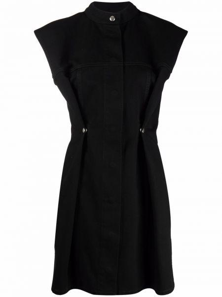 Sukienka bawełniana - czarna Givenchy