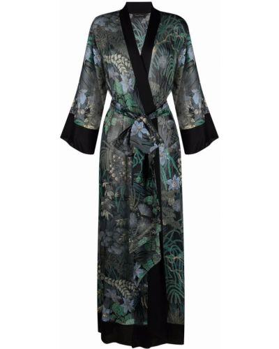 Шелковый халат - черный Carine Gilson