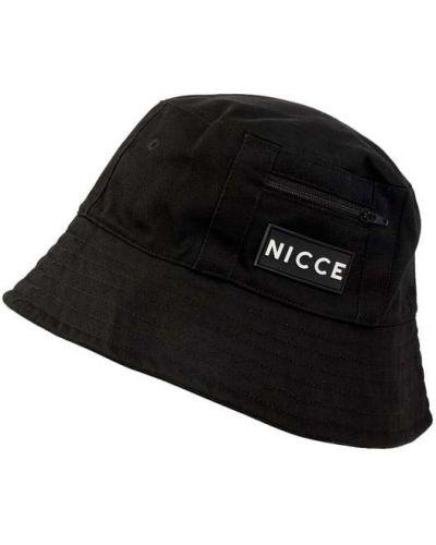 Miękki bawełna czarny czapka baseballowa z aplikacjami Nicce