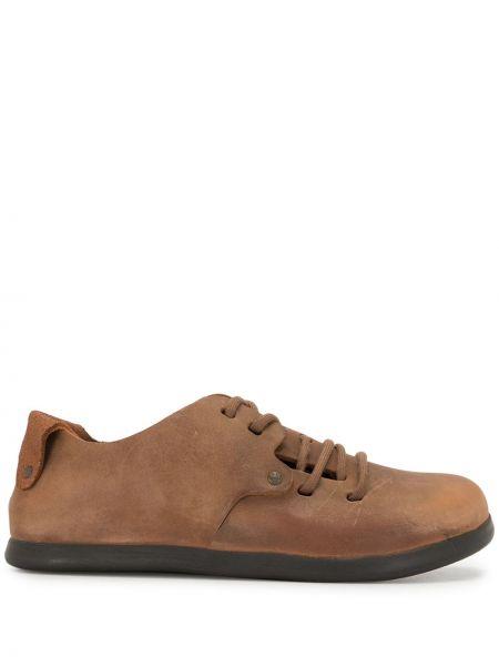 Коричневые кожаные туфли на шнуровке Birkenstock