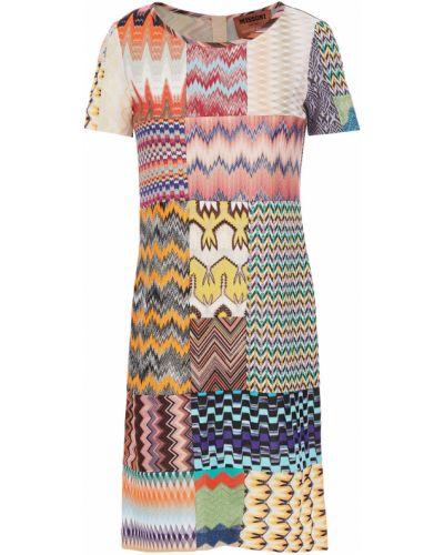 Платье мини из вискозы пэчворк Missoni