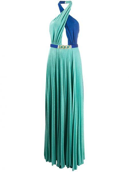 Вечернее платье с поясом расклешенное Elisabetta Franchi