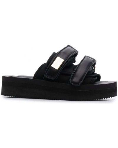 Черные сандалии на платформе Suicoke
