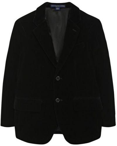 Пиджак на пуговицах черный Polo Ralph Lauren