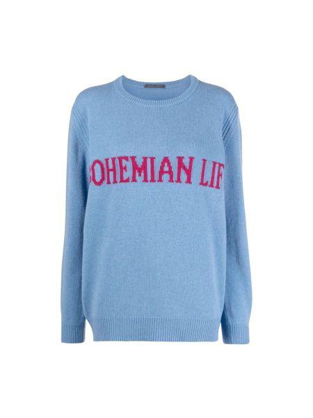 Niebieski sweter Alberta Ferretti
