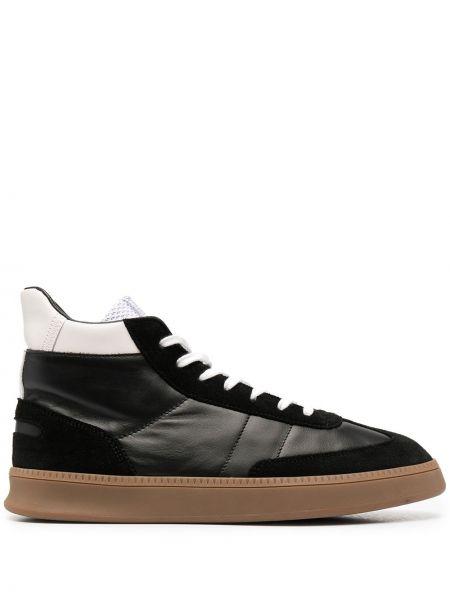 Czarne sneakersy skorzane sznurowane Spalwart