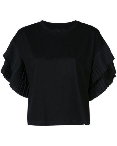 Футбольная плиссированная черная футболка со стразами Robert Rodriguez Studio