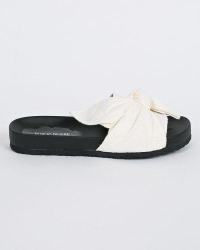 Бежевые сандалии текстильные Public Desire