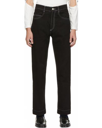 Białe jeansy z paskiem Daniel W. Fletcher