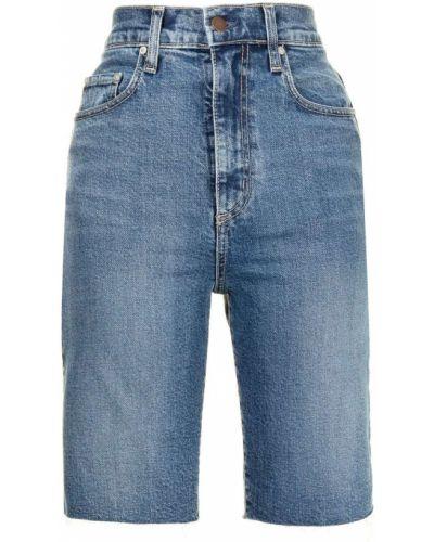 Джинсовые шорты до колена - синие Nobody Denim