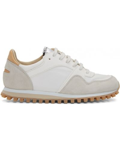 Нейлоновые коричневые кожаные кроссовки на шнуровке на каблуке Spalwart