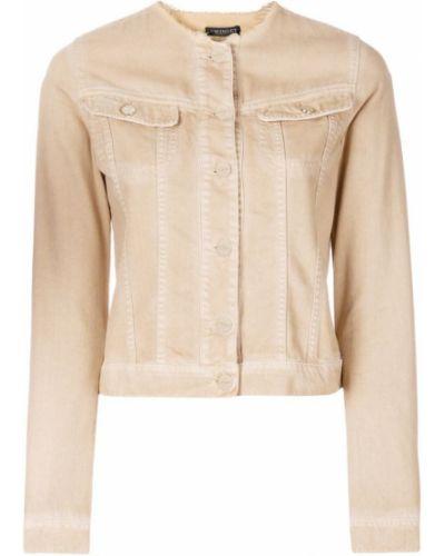 Джинсовая куртка длинная с вышивкой Twin-set