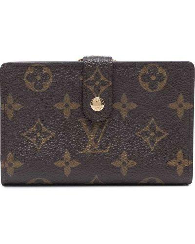Brązowy portfel skórzany Louis Vuitton