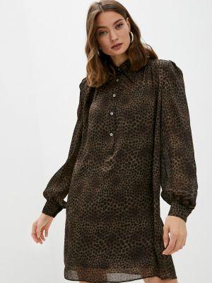 Платье рубашка - коричневое John Richmond