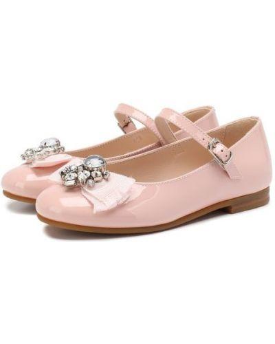 Туфли розовый кожаные Il Gufo