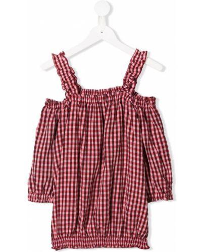 Блуза на бретелях красная Dondup Kids