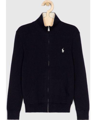 Кардиган темно-синий с воротником Polo Ralph Lauren