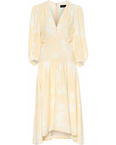 Платье мини миди с цветочным принтом Proenza Schouler