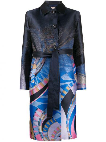 Длинное пальто с воротником на пуговицах Emilio Pucci