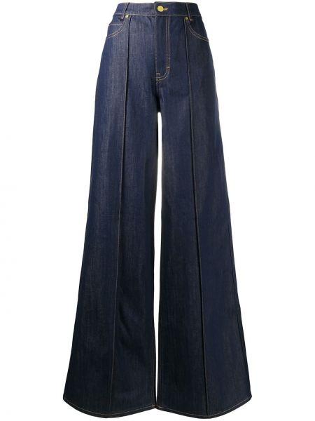 Синие с завышенной талией широкие джинсы с карманами Victoria, Victoria Beckham