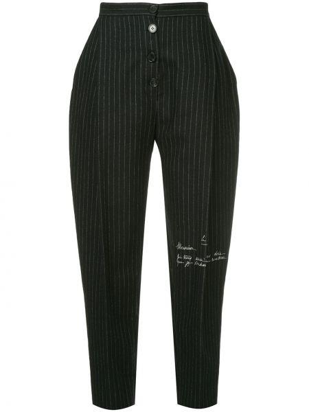 Черные укороченные брюки с поясом Ruban