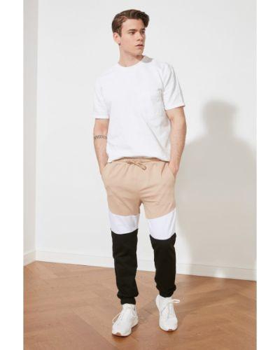 Beżowy dres bawełniany Trendyol