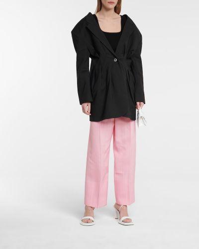 Różowe spodnie z jedwabiu Jacquemus