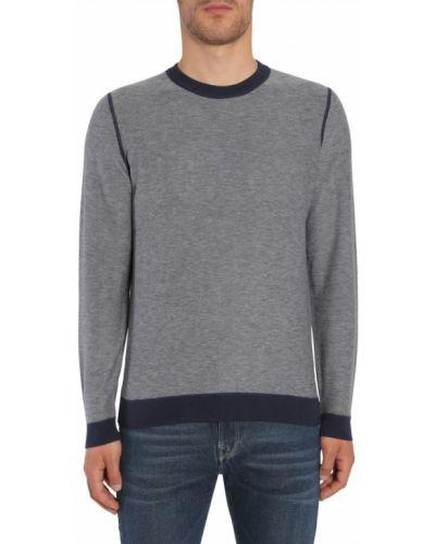 Prążkowany długi sweter wełniany z długimi rękawami Hugo Boss