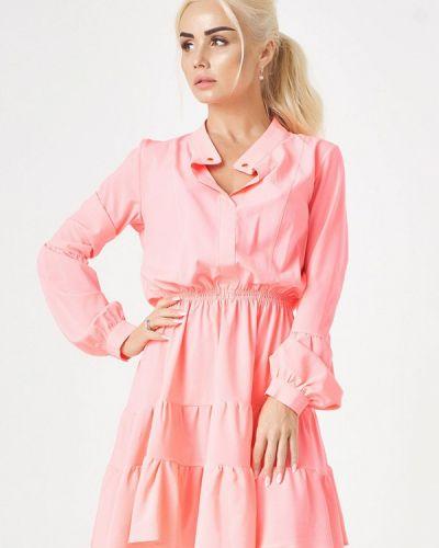 Розовое повседневное платье Luxlook