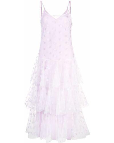 Платье в горошек на бретелях Jill Stuart