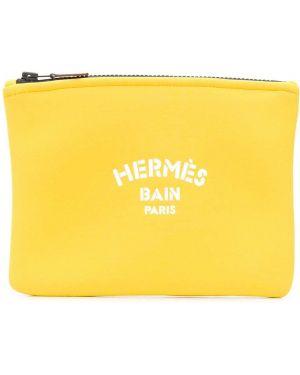 Torba sprzęgło z nadrukiem włókienniczy Hermes