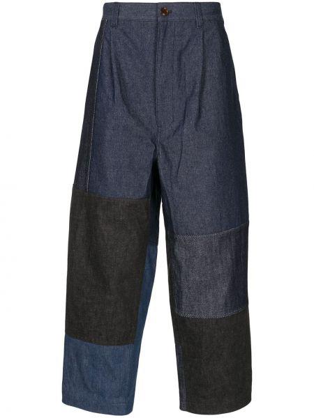 Niebieskie jeansy z wysokim stanem bawełniane Comme Des Garcons Homme