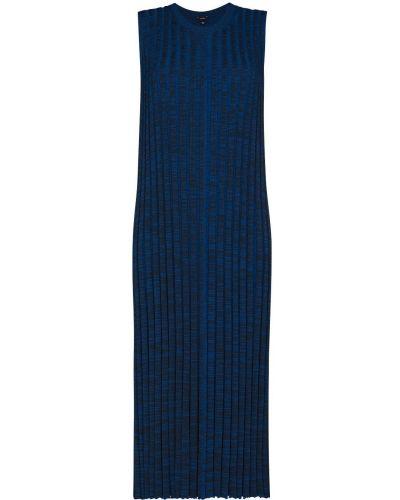 Платье миди - синее Joseph