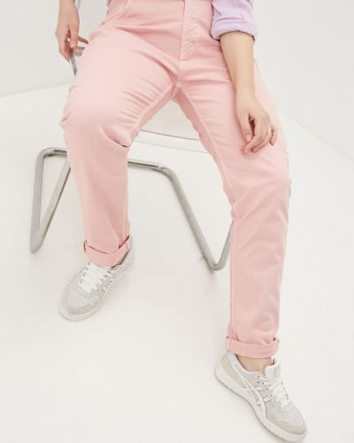 Розовые зауженные брюки Sophia