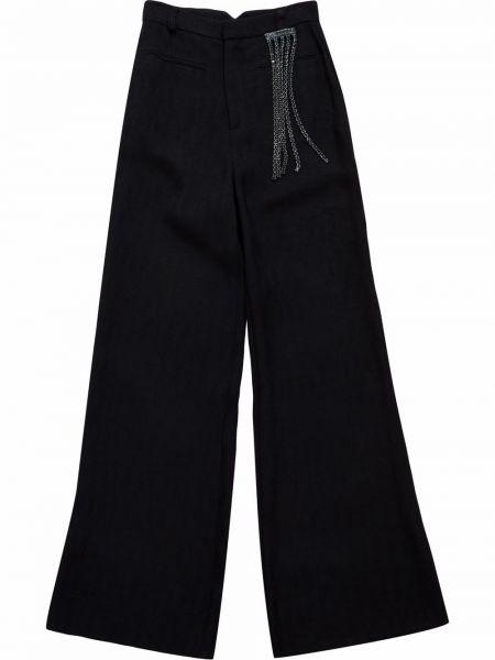 Lniane lniane spodnie - niebieskie Christopher Kane