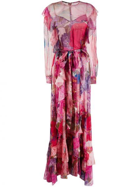 Вечернее платье розовое макси Valentino
