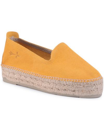 Żółte espadryle Manebi