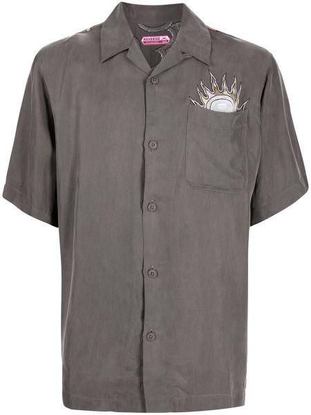 Серая рубашка с заплатками Maharishi