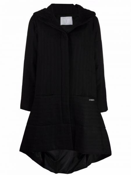Черное шерстяное пальто Société Anonyme