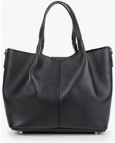 Черная сумка из натуральной кожи Carla Ferreri